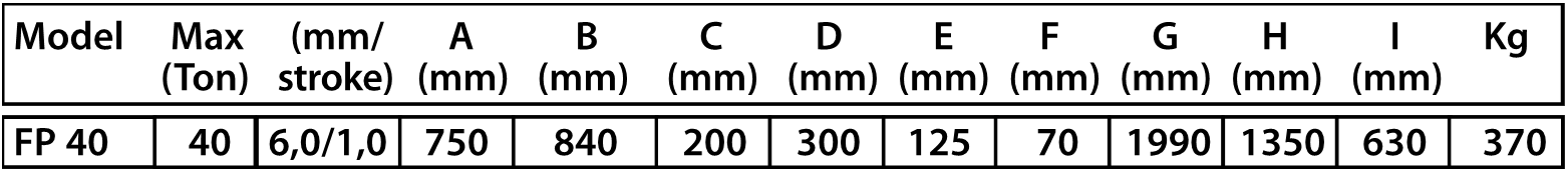 FP 40 dimensions